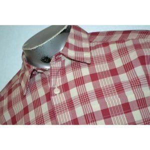 13691 Mens Patagonia Dress Shirt Size Medium Red